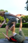 Every now and then people fall performing acro, but there are safe ways to do so.