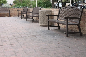 Despite it being a tobacco-free area, this popular PCL spot shows signs of abundant cigarette use. Photo by Carly Cummins