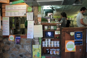 At the location on Barton Springs Road, Juiceland provides a smoothie and juice menu for the general public. The smoothies and juices combine a variety of fruits and vegetables.