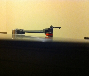 A vinyl spinning