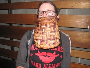 Amanda White competed in the Lady Beard category with her oven-baked bacon beard. Photo by Melany Maurer
