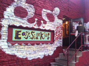 The backside of The Hole in the Wall is the new East Side King's paintjob.