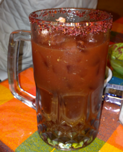 Clamato with Lemon and Chilli on top