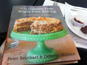 Peter Reinhart's The Joy of Gluten-Free, Sugar-Free Baking features 80 flourless and sugarless recipes.