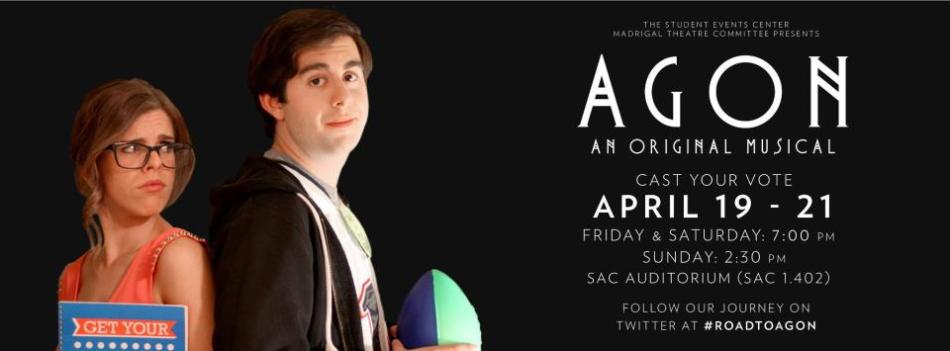 Agon an original musical debuted this weekend. The show was written and produced by students/