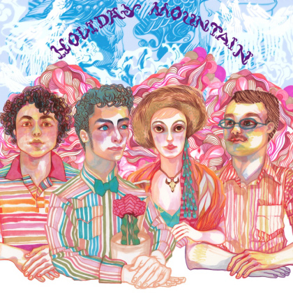 "Album cover for Holiday Mountain's ""Become Who You Are."" Art by Jordan Piantedosi"