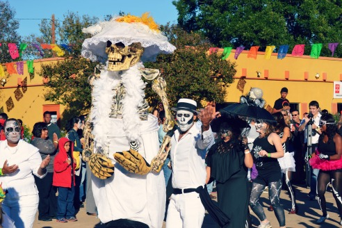 Dia de Los Muertos parade at the Easter Seals Texas' festival on Oct. 19