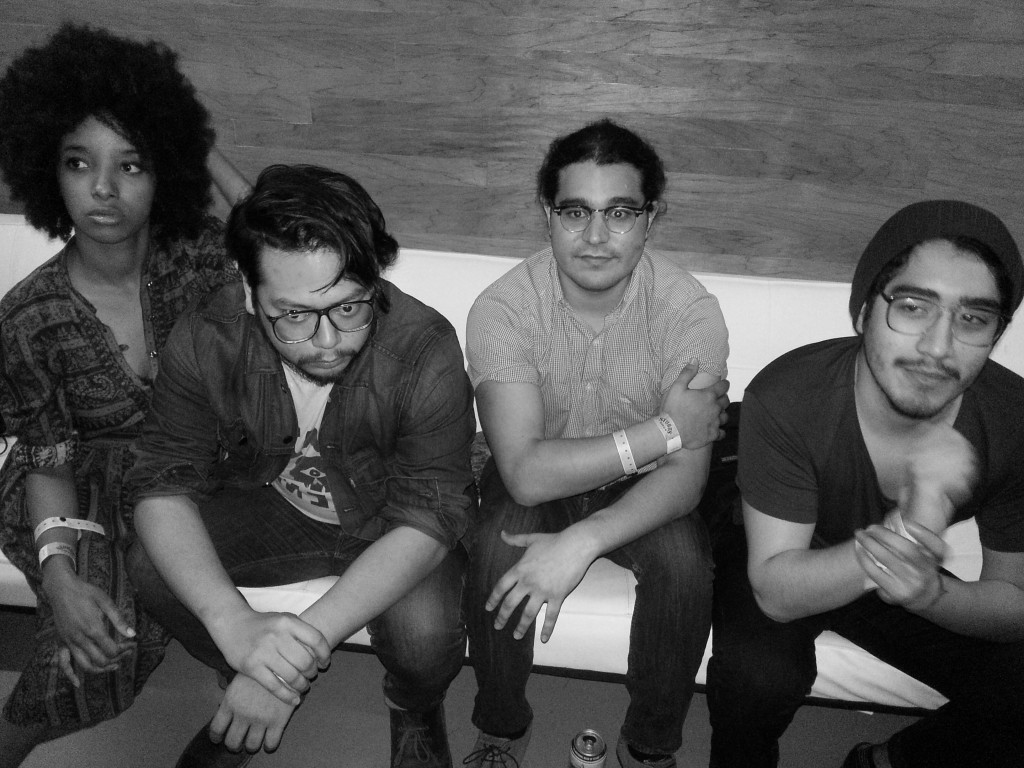 L to R: Asli Omar (vocals), Tom Nguyen (bass), Adam Martinez (guitar) and Justin Martinez (drums)