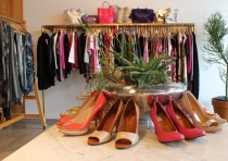 Moss has an array of springtime pumps and garments, including designer brands, such as Prada, Louboutin and Yves St. Laurent.