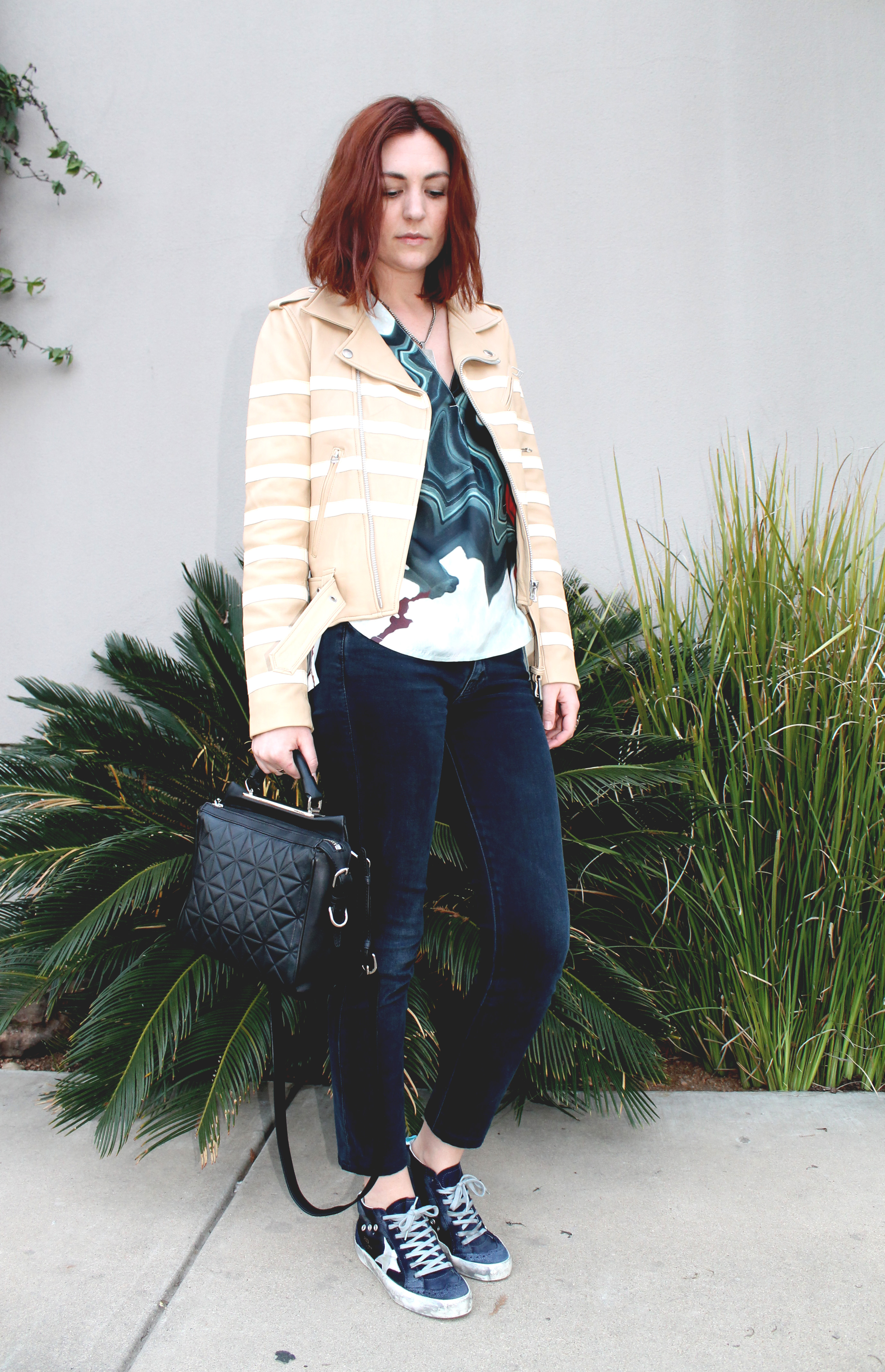 By George stylist Cat Caplener poses in her spring favorites.
