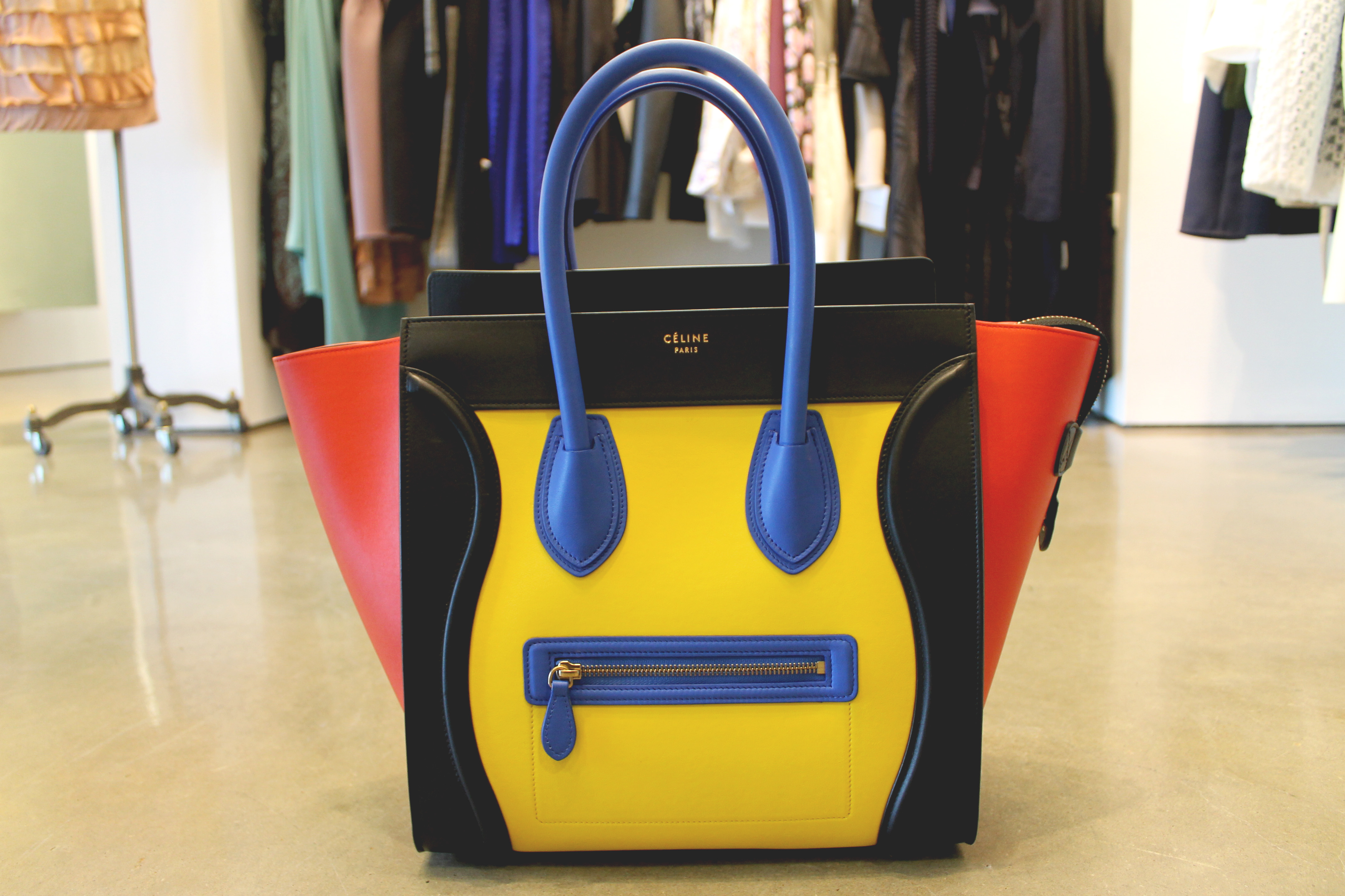 Celine primary color block luggage at By George — $3,300