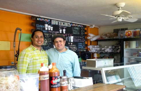 Friends and now business partners, Jose Luis Cardona (left) and Ivan Gonzalez (right) are excited for what the year has in store for Hay Elotes.