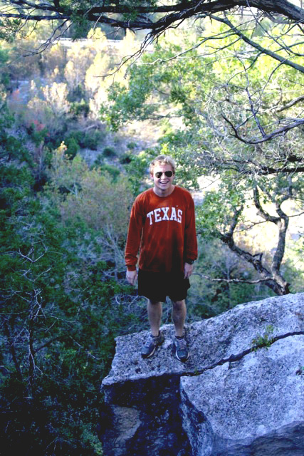 Texas Freshman BJ Crowell enjoys the Lost Creek Trail in October 2013 with some friends for an afternoon of hiking and soaking in the sun.