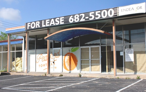 "The brick and mortar version of The Peached Tortilla will be located on 5520 Burnet Rd., next to Hey Cupcake! Silverstein expects to begin remodeling the former plumbing supply store ""sooner than later."""
