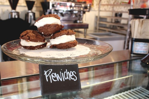 Royer's sells pie-wiches. Not everyone loves pie, but everyone loves two cookies with lots of frosting in between, according to Stout.