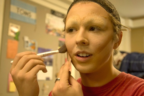 The process of transforming into Kamyrrah Jane requires a lot of contouring and highlighting makeup.