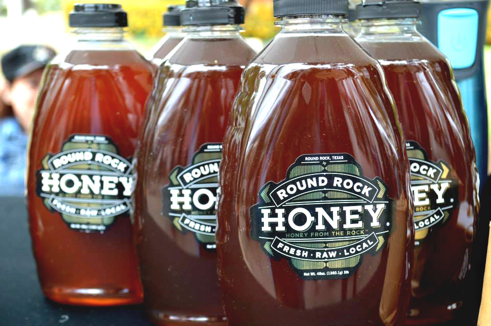 Round Rock honey is made from locally harvested bees in Georgetown, Texas.