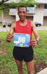 Ethiopian native, Shiferaw Zerihun finished the 10k in 35:22. Zerihun plans to run the marathon in San Diego this coming June.