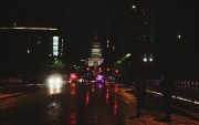 Austin Police blocked the roads of downtown Austin as they prepared for the many Cap 10k participants that would soon arrive.