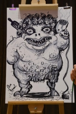 Professional Manhatten projects comic artist Nick Pitarra's finished monster in the Kai-drew event.
