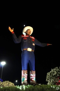 Big Tex watches over all patrons at the Texas State Fair.