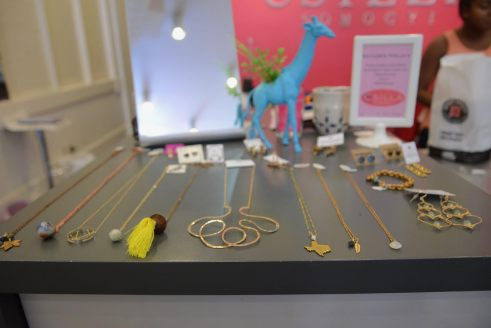 Simple jewelry crafted by local artists, available at Csilla Somogyi.