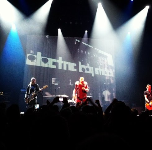 The Cult onstage at the Moody Theater.