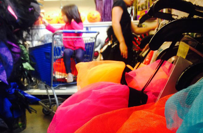 Customers browse through costume options at a Goodwill store. Photo courtesy of komonews.com