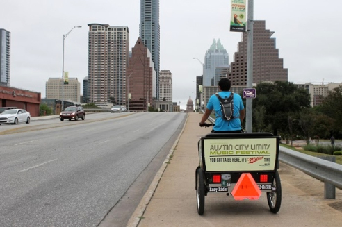 Garcia works throughout the city, but can be usually spotted downtown on weekend days and nights.