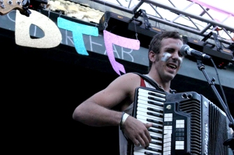 The accordion made an appearance at Ditch the Fest during Patch's set. It was played by Taylor Tazewell.