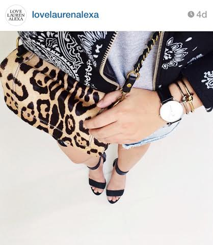 Cheetah Clutch via Lauren Alexa, @lovelaurenalexa