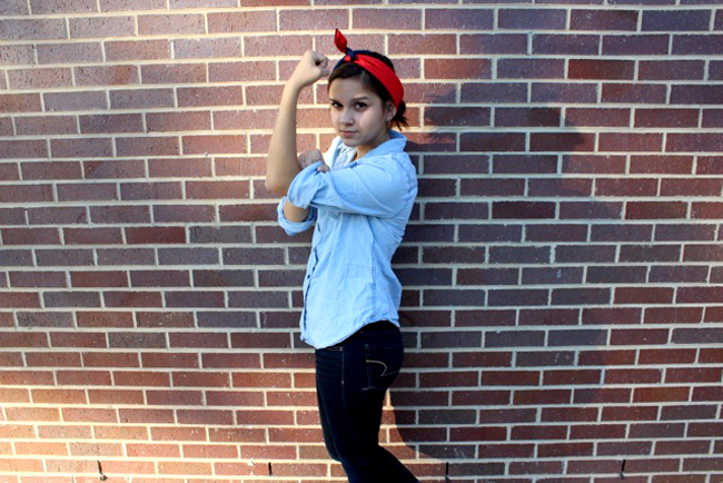 Rosie the Riveter: Modeled by Britta Sedillo