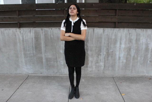 Wednesday Adams: Modeled by Marissa Alvarado