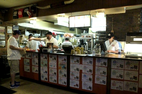 Top Notch's open kitchen concept allows customers to watch as their food is prepared.