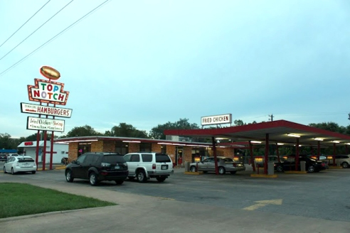 Top Notch's neon sign has been lighting up Burnet Road since 1971.