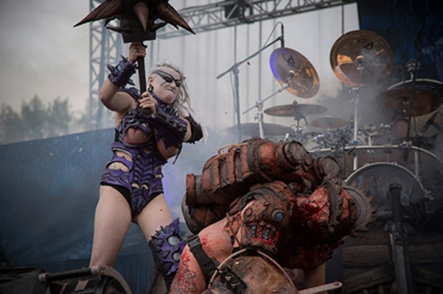 ​Vulvatron makes her debut at Riot Fest in Chicago on Sept. 12, 2014. (Photo courtesy of James Richards IV)