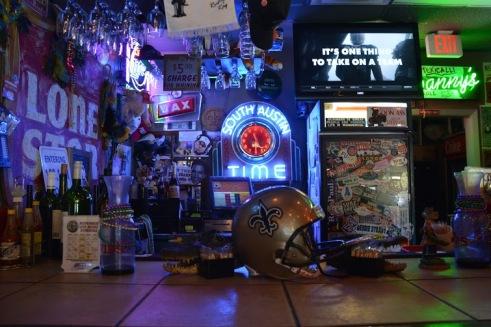 Bar area at Evangeline Cafe
