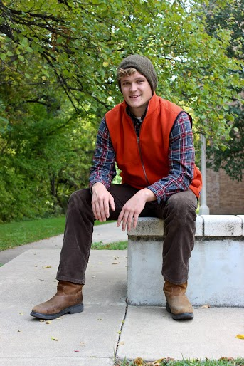 Eddie Bauer flannel, Izod vest, Gap beanie, Levi pants and Justin boots. Modeled by Jacob Hickerson.