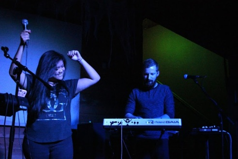LIONGRL + G-Monk wrap up their set at the Mohawk on Oct. 22.