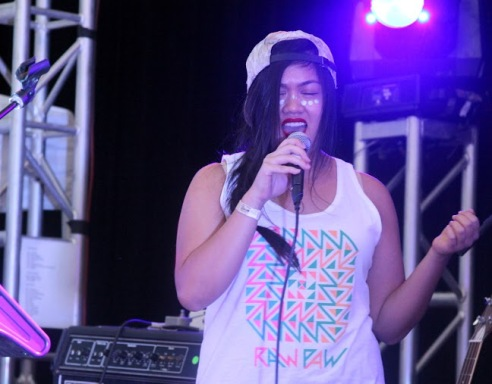 """Angie Calderon, known as """"LIONGRL,"""" performs at Ditch the Fest Fest."""