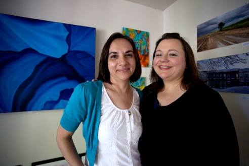 Rebecca Klier and Cecily Johnson, friends since high school, recently came together to create Studio Yo, an artistic collaboration for the East Austin Studio Tour.