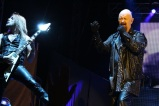 Judas Priest lead singer Rob Halford and guitarist Richie Faulkner deliver Friday night on the Black Stage. ​