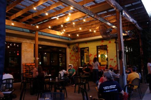 Bouldin Creek Café's decor creates a vibrant space at the corner of S. Frist and Mary streets.