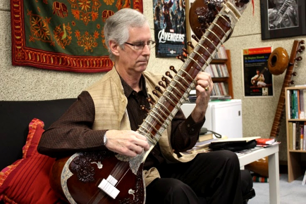 Slawek got his first guitar 45 years ago, when an Indian family arranged to get him a handcrafted one. The intricacy and details of the instrument drew Slawek to the sitar.